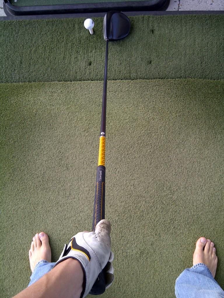 Barefoot Golfer