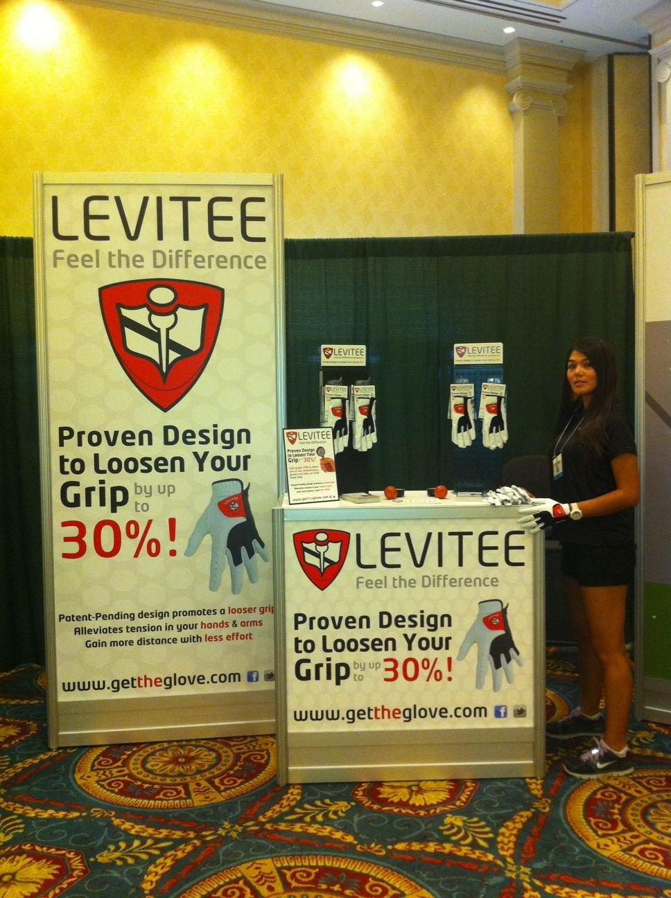 LeviTee Booth at the PGA Show 2011