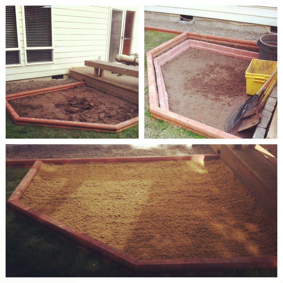 Backyard Sand Trap :   Homemade sandtrap in backyard  Golf Talk  The Sand Trap com