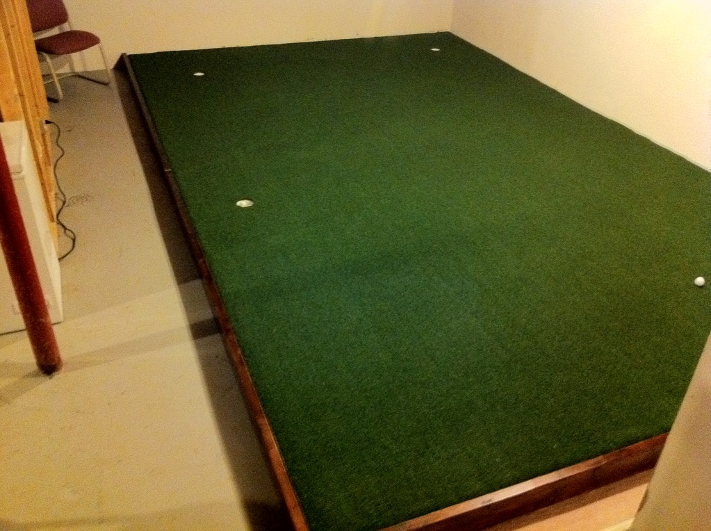 Finally Finished Indoor Putting Green - Golf Talk - The Sand Trap .com