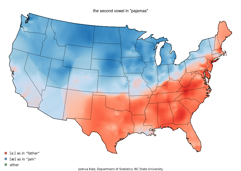 US Maps Of Varying Pronunciations The Grill Room The Sand - Pronunciation of our us map